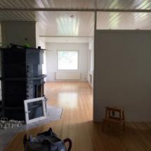 Ennen lattian ja katon maalausta