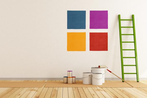 seinän maalaus, talon maalaus
